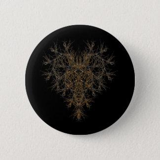 dunkles herz runder button 5,1 cm
