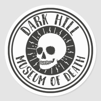 Dunkles Hügel-Museum des Todesschädel-Aufklebers Runder Aufkleber