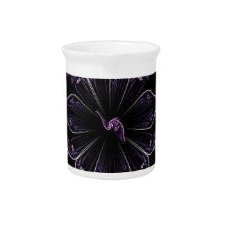 dunkles lila Fraktal Krug