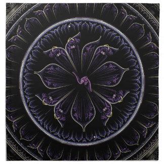 dunkles lila Fraktal Serviette