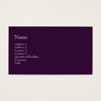 dunkles Lila Visitenkarte