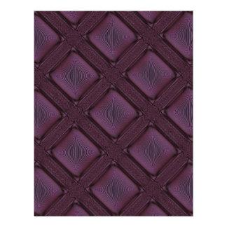 Dunkles malvenfarbenes abstraktes Muster 21,6 X 27,9 Cm Flyer