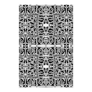 Dunkles orientalisches verziertes Muster Briefpapier