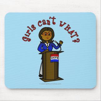 Dunkles Politiker-Mädchen Mauspads