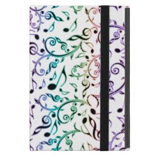 Dunkles Regenbogen-Musiknoten iPad Miniabdeckung iPad Mini Schutzhülle