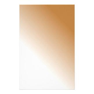 Dunkles TAN-Weiß Ombre Personalisierte Büropapiere