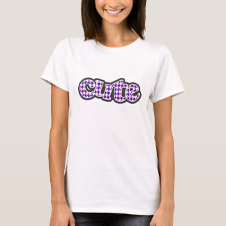 Dunkles violettes Hahnentrittmuster T-Shirt