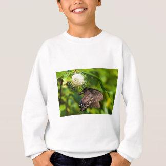 Dunkles weibliches Tiger-Frack auf Wildblume Sweatshirt