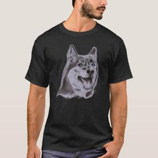 Dunkles Wolf-T-Shirt T-Shirt