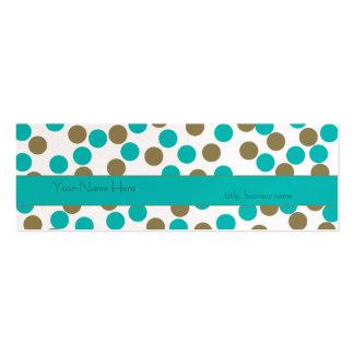 Dünne aquamarine blaue &Tan Mini-Visitenkarten