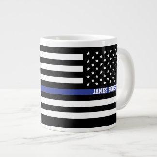 Dünne blaue Linie - amerikanische Jumbo-Tasse