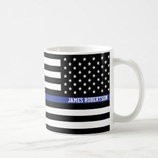 Dünne blaue Linie - amerikanische Kaffeetasse