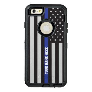 Dünne blaue Linie - amerikanische OtterBox iPhone 6/6s Plus Hülle