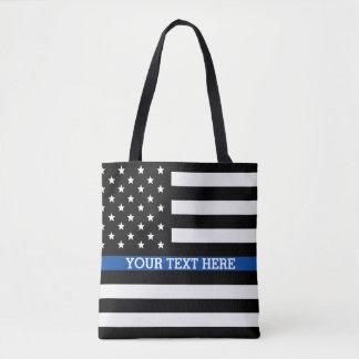 Dünne blaue Linie - amerikanische Tasche