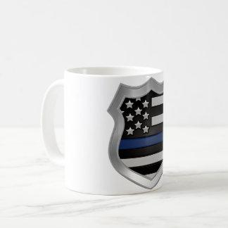 Dünne blaue Linie Kaffee-Tasse Kaffeetasse