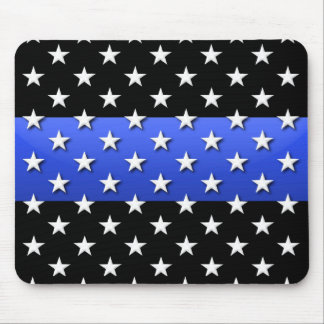 Dünne blaue Linie Polizei-US Flagge Mousepad