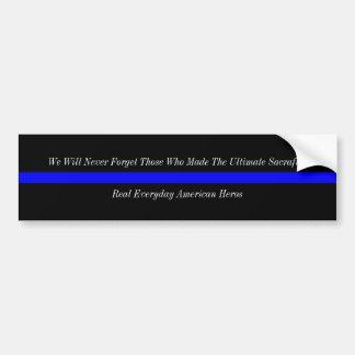 Dünne Blue Line-Amerikaner-Helder Autoaufkleber