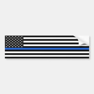 Dünne Blue Line-amerikanische Flagge Autoaufkleber