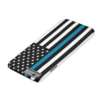 Dünne Blue Line-amerikanische Flagge Barely There iPhone 6 Hülle