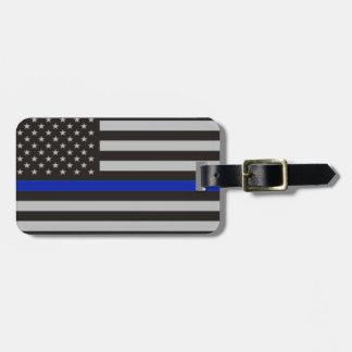 Dünne Blue Line-amerikanische Flagge Kofferanhänger