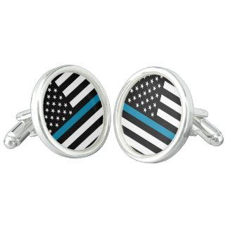 Dünne Blue Line-amerikanische Flagge Manschettenknöpfe