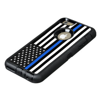 Dünne Blue Line-amerikanische Flagge OtterBox iPhone 6/6s Plus Hülle