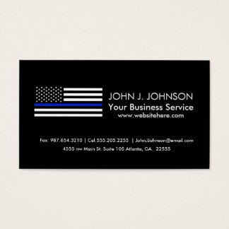 Dünne Blue Line-amerikanische Flagge Visitenkarte