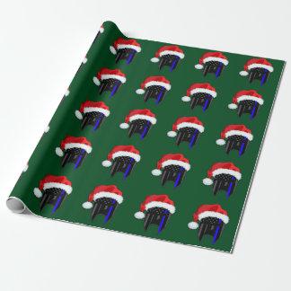 DÜNNE BLUE LINE-Flagge-spartanische Geschenkpapier