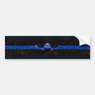 Dünne Blue Line-Flügel Autoaufkleber
