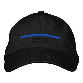 Dünne Blue Line personifizieren dieses mit Text Bestickte Kappe