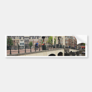 Dünne Brücke, Amsterdam, Holland Autoaufkleber