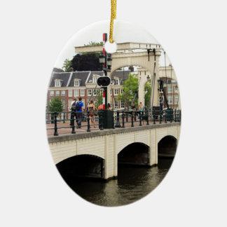 Dünne Brücke, Amsterdam, Holland Keramik Ornament