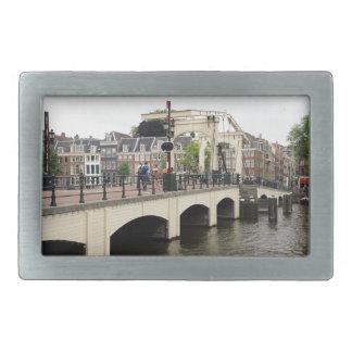 Dünne Brücke, Amsterdam, Holland Rechteckige Gürtelschnalle