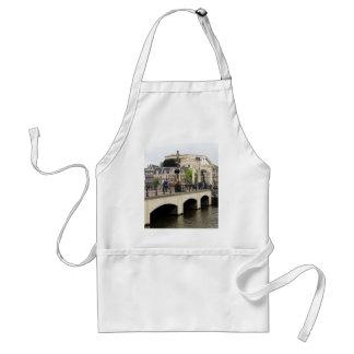 Dünne Brücke, Amsterdam, Holland Schürze