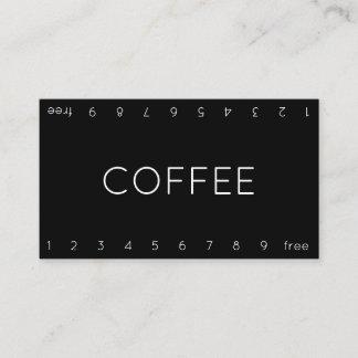 Dünne doppelte Zahl-Loyalitäts-Kaffee-Lochkarte Treuekarte
