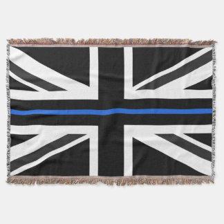 Dünne Flagge Blue Lines Großbritannien Decke