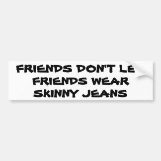 Dünne Jeans-Intervention Autoaufkleber