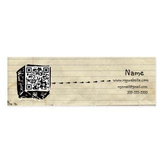 Dünne QR Code-Visitenkarte