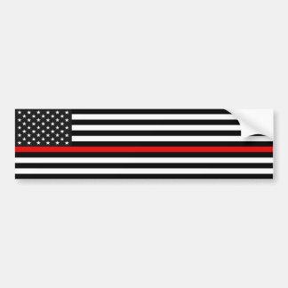 Dünne rote Linie amerikanische Flagge Autoaufkleber