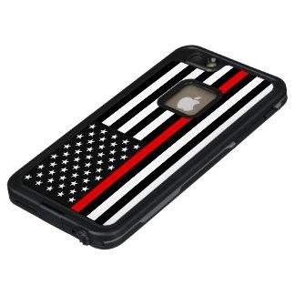 Dünne rote Linie amerikanische Flagge LifeProof FRÄ' iPhone 6/6s Plus Hülle