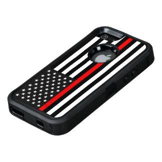 Dünne rote Linie amerikanische Flagge OtterBox iPhone 5/5s/SE Hülle