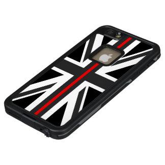 Dünne rote Linie Großbritannien-Flagge LifeProof FRÄ' iPhone 6/6s Plus Hülle