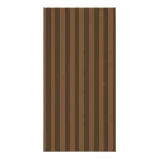 Dünne Streifen - Brown und dunkles Brown Karte