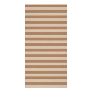 Dünne Streifen - Brown und hellbraunes Karte