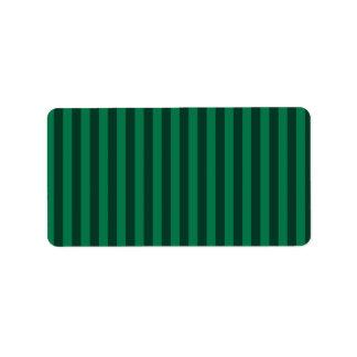 Dünne Streifen - grün und dunkelgrün Adressaufkleber