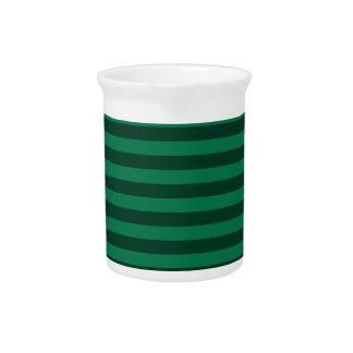 Dünne Streifen - grün und dunkelgrün Krug