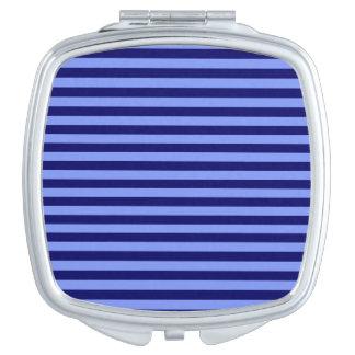 Dünne Streifen - hellblau und dunkelblau Schminkspiegel