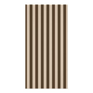 Dünne Streifen - hellbraun und dunkles Brown Karte