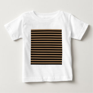 Dünne Streifen - schwarz und blasses Brown Baby T-shirt