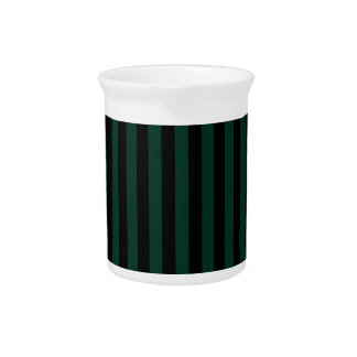 Dünne Streifen - schwarz und dunkelgrün Getränke Pitcher